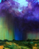 Obraz do salonu artysty Cyprian Nocoń pod tytułem Szkice meteorologiczne - ściana deszczu