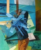 Obraz do salonu artysty Cyprian Nocoń pod tytułem Zaplątany