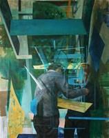 Obraz do salonu artysty Cyprian Nocoń pod tytułem Proces