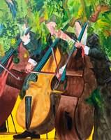 Obraz do salonu artysty Cyprian Nocoń pod tytułem Trzy Basy