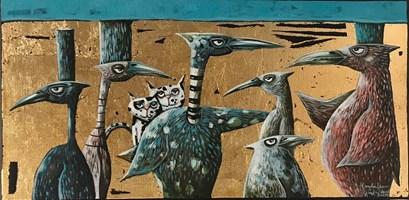 Obraz do salonu artysty Magdalena Rytel-Skorek pod tytułem Miło było się spotkać