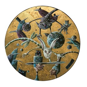 Obraz do salonu artysty Magdalena Rytel-Skorek pod tytułem Milczenie jest złotem