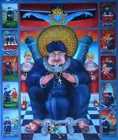 Obraz do salonu artysty Jacek Lipowczan pod tytułem Życie i przygody wikarego Sz.