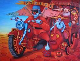 Obraz do salonu artysty Jacek Lipowczan pod tytułem Aniołowie Piekieł