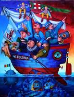 Obraz do salonu artysty Jacek Lipowczan pod tytułem Narodowo, patriotycznie - cala naprzod!
