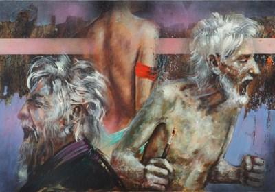 Obraz do salonu artysty Piotr Jakubczak pod tytułem Zuzanna I Starcy