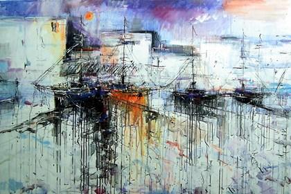 Obraz do salonu artysty Dariusz Grajek pod tytułem Port Espania....