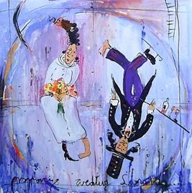 Obraz do salonu artysty Dariusz Grajek pod tytułem Proporcje Leonarda....