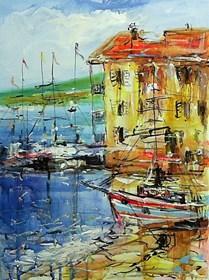 Obraz do salonu artysty Dariusz Grajek pod tytułem Zatoka nad Adriatykiem...