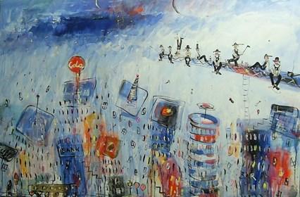 Obraz do salonu artysty Dariusz Grajek pod tytułem Manhattan...
