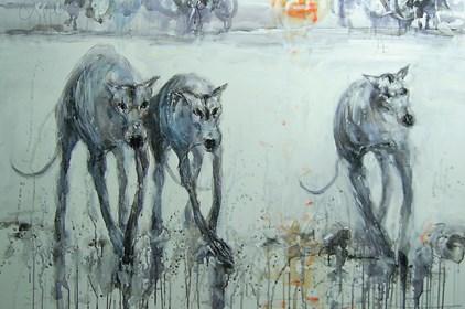 Obraz do salonu artysty Dariusz Grajek pod tytułem Stado.....