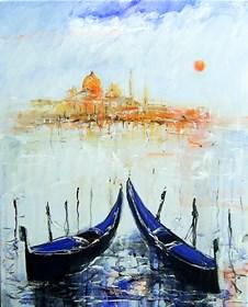 Obraz do salonu artysty Dariusz Grajek pod tytułem Widok na Wenecję....