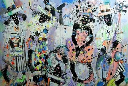 Obraz do salonu artysty Dariusz Grajek pod tytułem Jazz....