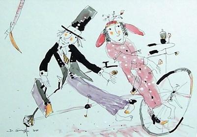 Obraz do salonu artysty Dariusz Grajek pod tytułem Ślubna para...