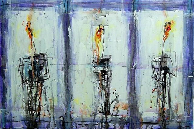 Obraz do salonu artysty Dariusz Grajek pod tytułem Tulipany...