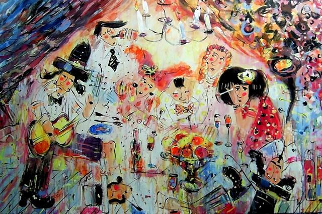 Living room painting by Dariusz Grajek titled decadents
