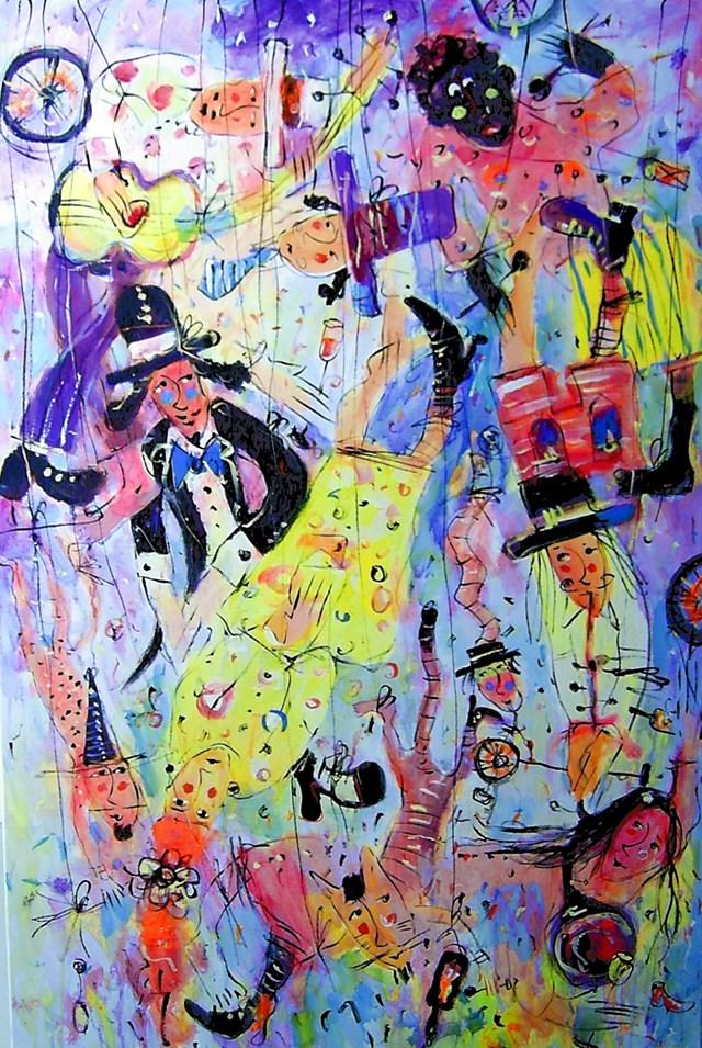 Obraz do salonu artysty Dariusz Grajek pod tytułem Marionetki...