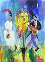 Obraz do salonu artysty Dariusz Grajek pod tytułem Adam i Ewa.....