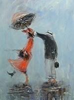 Obraz do salonu artysty Dariusz Grajek pod tytułem Pod parasolem....