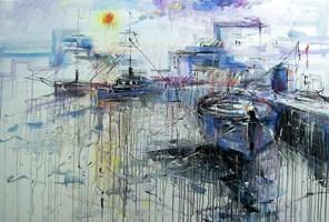 Obraz do salonu artysty Dariusz Grajek pod tytułem Błękitna zatoczka.....