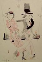 Obraz do salonu artysty Dariusz  Grajek pod tytułem Para na huśtawce...
