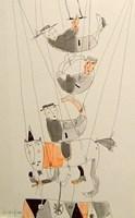 Obraz do salonu artysty Dariusz Grajek pod tytułem Cyrkownicy.....