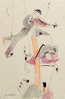 Obraz do salonu artysty Dariusz Grajek pod tytułem Skrzypek na dachu......