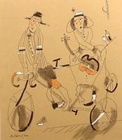 Obraz do salonu artysty Dariusz Grajek pod tytułem Bicyklowe granie....