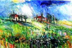 Obraz do salonu artysty Dariusz Grajek pod tytułem Pienza.....