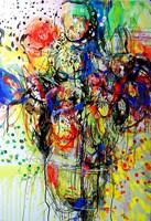 Obraz do salonu artysty Dariusz Grajek pod tytułem Słoneczniki....