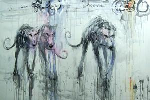 Obraz do salonu artysty Dariusz Grajek pod tytułem Sfora...