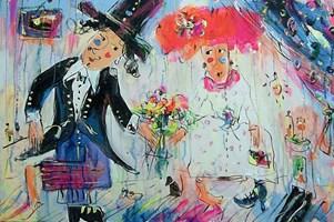 Obraz do salonu artysty Dariusz Grajek pod tytułem Portret Arnolfinich....
