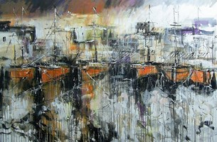 Obraz do salonu artysty Dariusz Grajek pod tytułem Stary port.....