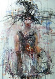 Obraz do salonu artysty Dariusz Grajek pod tytułem Andromeda....