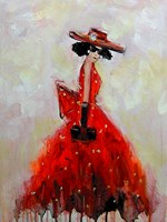 Obraz do salonu artysty Dariusz Grajek pod tytułem Panna w czerwieni....