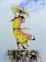 Obraz do salonu artysty Dariusz Grajek pod tytułem Panny pod parasolem....