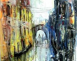 Obraz do salonu artysty Dariusz Grajek pod tytułem Gondole.....