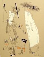 Obraz do salonu artysty Dariusz Grajek pod tytułem Rycerzyk i królewna....