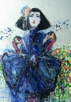 Obraz do salonu artysty Dariusz Grajek pod tytułem Syrena i pawie.....