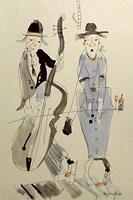 Obraz do salonu artysty Dariusz Grajek pod tytułem Zakochani muzykanci....