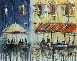 Obraz do salonu artysty Dariusz Grajek pod tytułem Kawiarenka w Sienie...