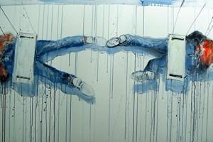Obraz do salonu artysty Dariusz Grajek pod tytułem Huśtawka...