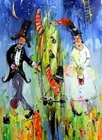 Obraz do salonu artysty Dariusz Grajek pod tytułem Adam i Ewa....