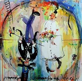 Obraz do salonu artysty Dariusz Grajek pod tytułem Proporcje według Leonarda.....
