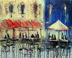 Obraz do salonu artysty Dariusz Grajek pod tytułem Toskańska kawiarenka...