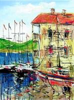 Obraz do salonu artysty Dariusz Grajek pod tytułem Chorwacka zatoczka....