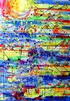 Obraz do salonu artysty Dariusz Grajek pod tytułem Wioślarze w słońcu....