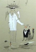 Obraz do salonu artysty Dariusz Grajek pod tytułem Anielica z kotem.....
