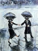 Obraz do salonu artysty Dariusz Grajek pod tytułem Deszczowy spacerek....