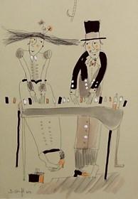 Obraz do salonu artysty Dariusz Grajek pod tytułem Pianiści......